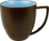 DUO Kaffeetasse 360ml azur / chocolate