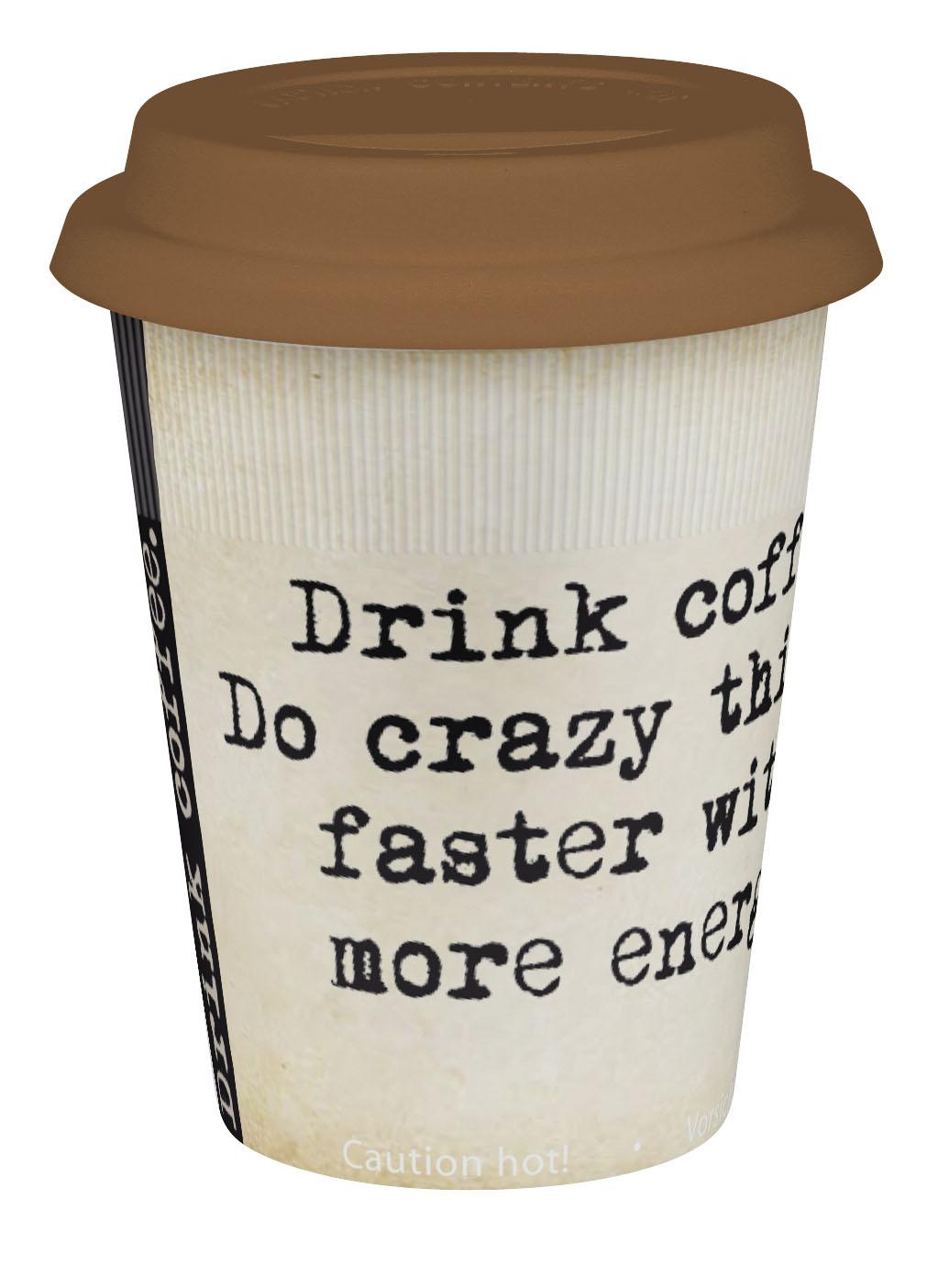 k nitz coffee to go becher crazy 380ml. Black Bedroom Furniture Sets. Home Design Ideas