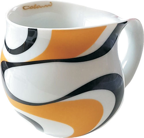 "Colani dekorierte Kaffeetasse ""gold & color"" wave gold & schwarz"