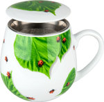 Tasse Tea for you - Marienkäfer auf Laub