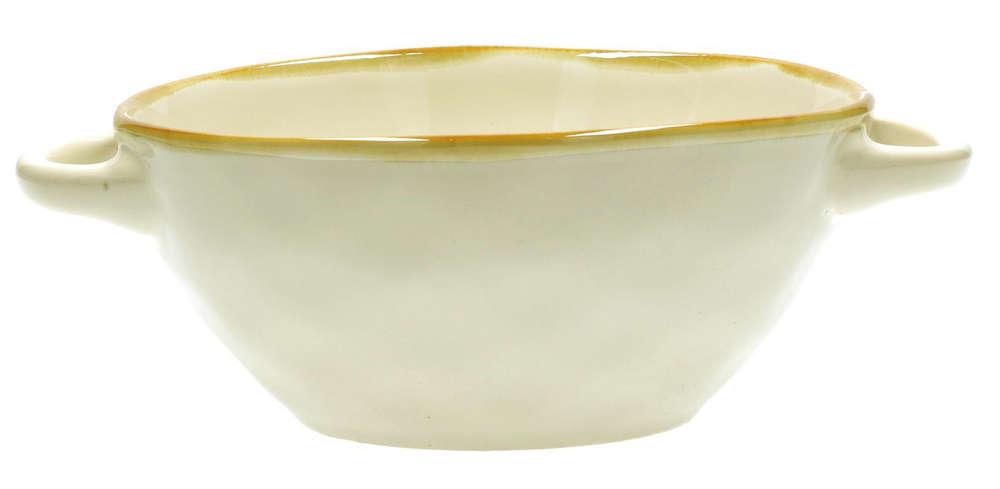 Schale CONCERTO BLU AVIO Suppenschüssel mit Griffen 14 cm italienisch Steinzeug
