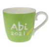 Tasse Abi 2021 Hellgrün mit Namen in GK 430 ml