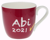 Tasse Abi 2021 Weinrot 425 ml mit Namen in GK