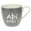 Tasse Abi 2021 Grau 430 ml mit Namen in GK